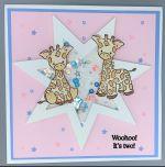 Baby Star-Twins, Boy-Girl, Shaker
