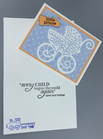 Baby Boy, Carriage, Laura-Baby-B103 Cards by Laura