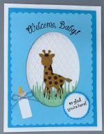 Baby Boy, Welcome Baby w/Giraffe