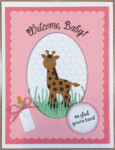 Baby Girl, Welcome Baby w/Giraffe