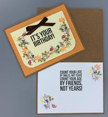 Birthday, Autumn Garland, Laura-Birth-111 Cards by Laura