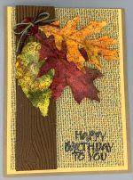 Birthday, Autumn Leaf Trio