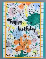 Birthday, Colorful Splotches
