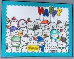 Birthday, Snowman Crowd
