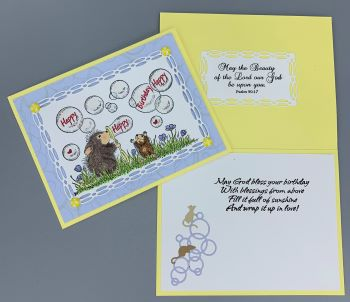Birthday, Blowing Bubbles, Laura-Birth-148C Cards by Laura