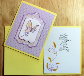 Birthday Female, Polka dot Butterfly, Laura-Birth-F101 Cards by Laura