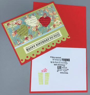 Birthday Female, Hearts w/words on Flowers, Laura-Birth-F106 Cards by Laura