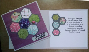 Birthday, Hexagon Quilt, Laura-Birth-F114 Cards by Laura