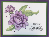 Birthday Female, Lavender Peonies