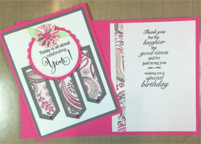 Birthday Female, Paisley Banner Trio, Laura-Birth-F127 Cards by Laura