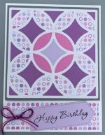 Birthday Female, Circle Quilt, Lavender