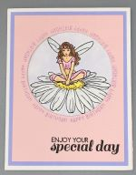 Birthday Female, Daisy Fairy Tri-Fold