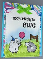 Birthday Female, Sheep w/Balloon