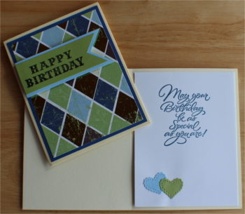 Birthday Male, Argyle, Laura-Birth-M105 Cards by Laura