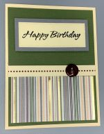 Birthday Male, Olive Wainscoting