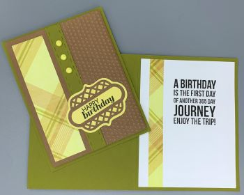 Birthday Male, Manly Plaid and Dot, Laura-Birth-M110 Cards by Laura