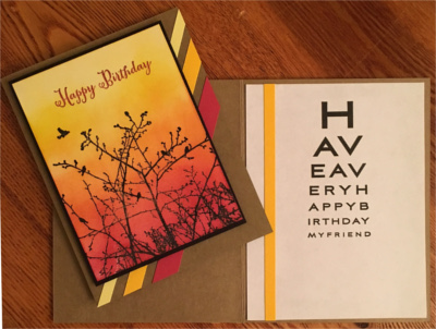 Birthday Male, Sunset Silhouette, Laura-Birth-M115 Cards by Laura