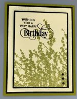 Birthday Male, Olive Brush Silhouette