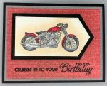 Birthday Male, Red Motorcycle