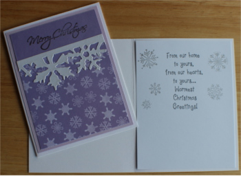 Christmas, Lilac Frost, Laura-Christ-106 Cards by Laura