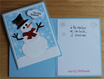 Christmas, Snowman, Red Scarf, Laura-Christ-107 Cards by Laura