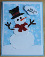 Christmas, Snowman, Red Scarf
