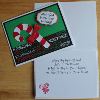 Christmas, Candy Cane, Laura-Christ-108C Cards by Laura