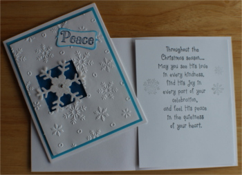 Christmas, Snowflake, Peace, Laura-Christ-109C Cards by Laura