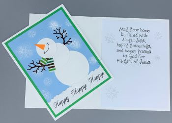 Christmas, Happy Snowman, Laura-Christ-111C Cards by Laura
