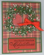 Christmas, Wreath on Plaid