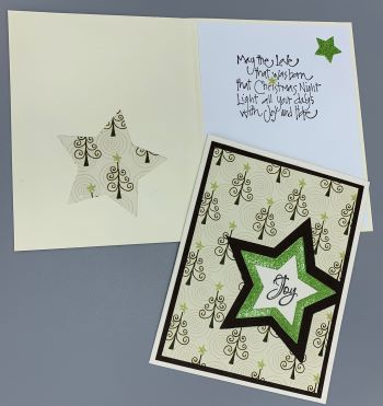 Christmas, Christmas Tree Star, Laura-Christ-116C Cards by Laura