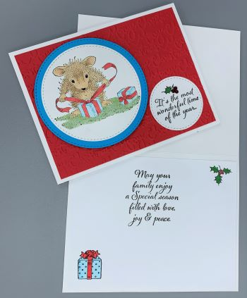 Christmas, House Mouse Wrapping, Laura-Christ-119 Cards by Laura
