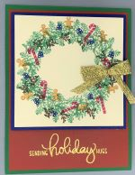 Christmas, Tiny Stamp Christmas Wreath