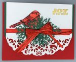 Christmas, Red Bird with Lace