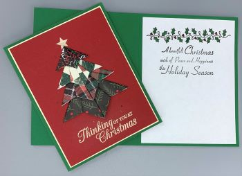 Christmas, Origami Christmas Tree, Laura-Christ-127 Cards by Laura