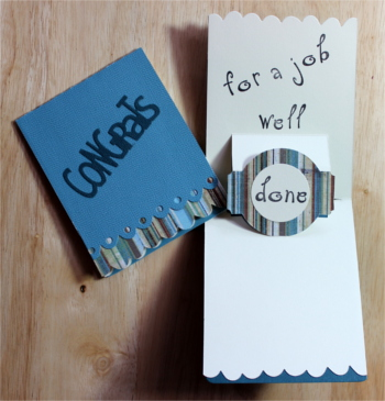 Congratulations, Pop Up, Medium Blue, Laura-Cong-101-PU Cards by Laura