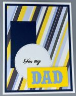 Dad, Blue & Yellow Basic Shapes