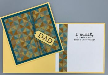 Dad, Turnabout Triangle, Aqua, Laura-Dad-105 Cards by Laura