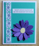 Encouragement, Teal & Purple Flower, Christian