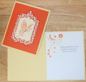 Encouragement, Polka dot Butterfly, Orange, Laura-Encour-118 Cards by Laura
