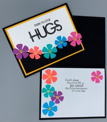 Encouragement, Hugs Posies Wave, Laura-Encour-131C Cards by Laura