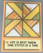 Encouragement, Apricot Pinwheel Quilt