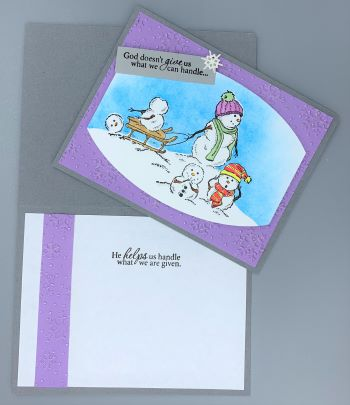 Encouragement, Snowman Head Roll, Laura-Encour-144C Cards by Laura