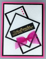 Encouragement, Embossed Frames, Hot Pink