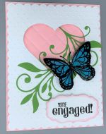 Engagement, Quilted Heart w/Butterfly