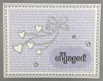 Engagement, Blue Love Talk, Silver Heart Ribbon