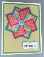 Friendship, Quilt Pinwheel, Red and Blue