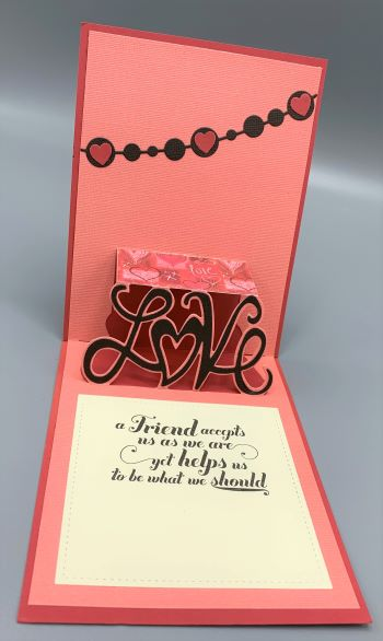 Friend, Pop Up, A Friend Accepts, Laura-Friend-107-PU Cards by Laura