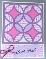 Friendship, Circle Quilt, Lavender