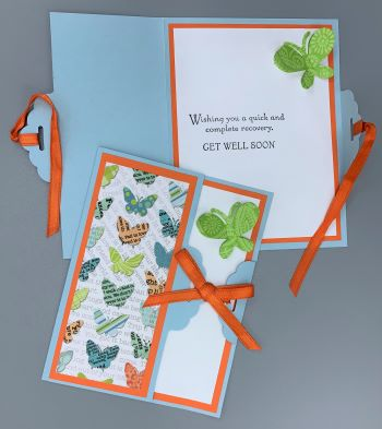 Get Well, Tied, Butterfly, Laura-GetWell-103-T Cards by Laura